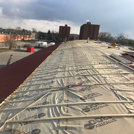 Commercial roofing installation in Edmonton
