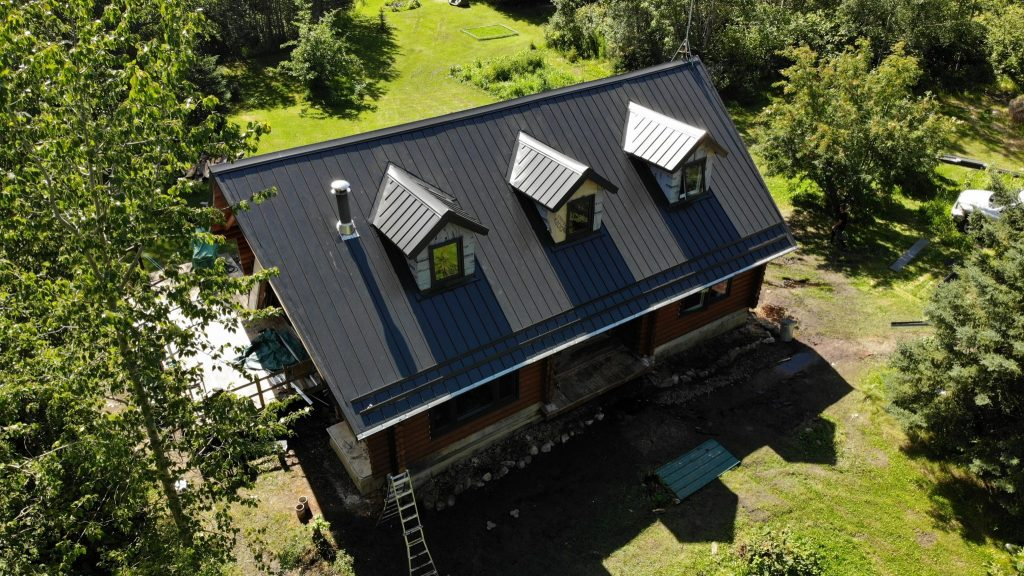 Standing seam roofing project