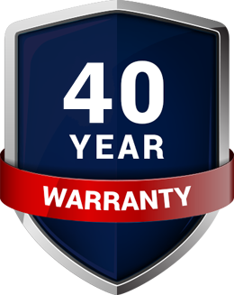Standing seam 40 year warranty