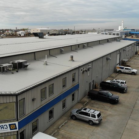 Commercial roofing project in Edmonton