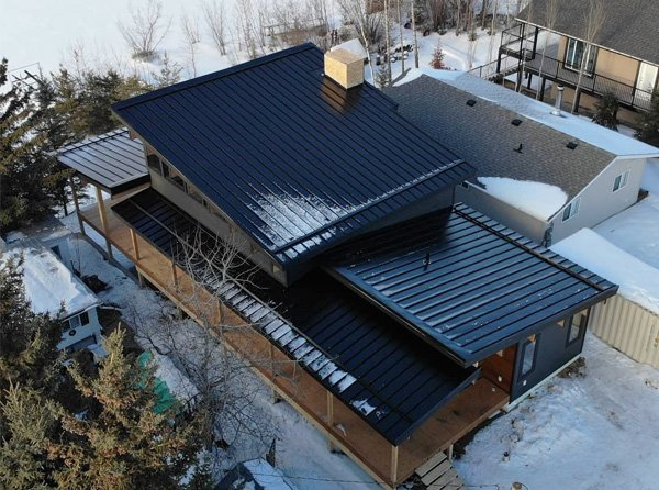 Standing seam metal roofing project in Edmonton, AB
