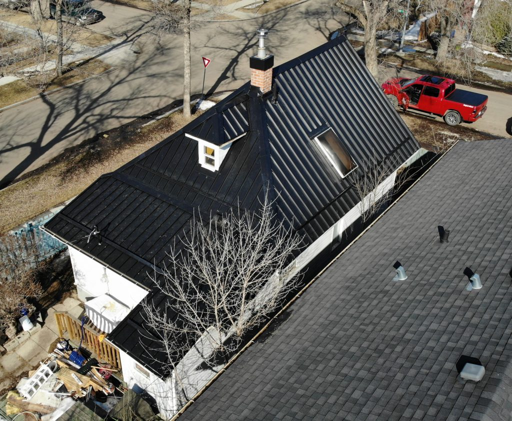 Standing seam metal roofing project